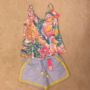 Lilly Pulitzer set, size XS. Brand new with tags